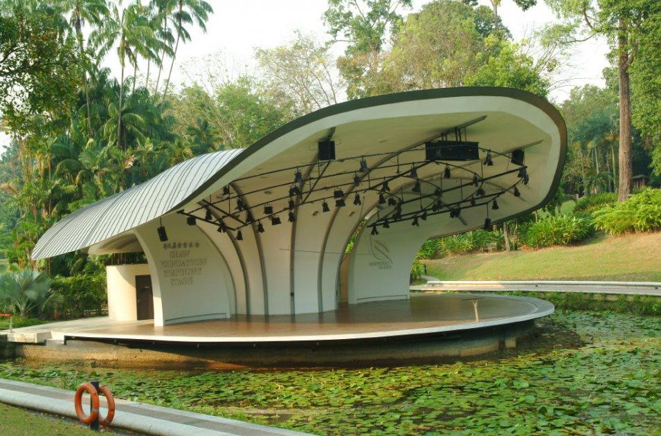 References vmzinc auditorium symphonique fondation shaw for Au jardin singapore